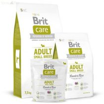 Brit Care bárány+rizs Adult small breed 7,5 kg