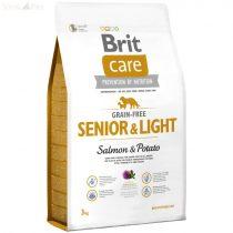 Brit Care gabona mentes hal+burgonya Senior 3 kg