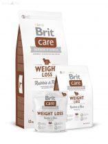 Brit Care Weight Loss/ kutyáknak 12 kg nyúl+rizs