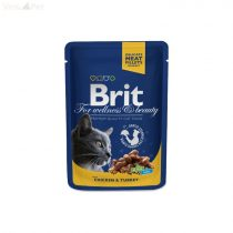 Brit Premium Cat 100 g alutasakos csirke+pulyka