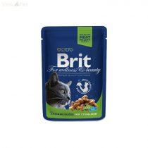 Brit Premium Cat 100 g alutasakos csirkés kasztrált macskáknak