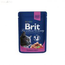 Brit Premium Cat 100 g alutasakos lazac+pisztráng