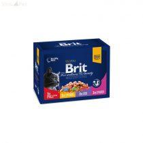 Brit Premium Cat 12x100 g alutasakos családi csomag