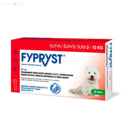 Fypryst Bolha-kullancs csepp kutyának (spot-on 0,67 ml  2-10 kg-ig) 10db pipetta