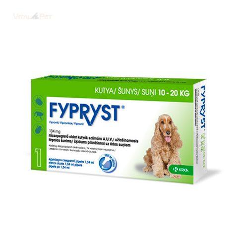 Fypryst Bolha-kullancs csepp kutyának (spot-on 1,34 ml  10-20 kg-ig) 10 db pipetta