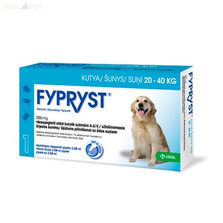 Fypryst Bolha-kullancs csepp kutyának (spot-on 2,68 ml  20-40 kg-ig) 1 db pipetta