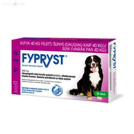 Fypryst Bolha-kullancs csepp kutyának (spot-on 4,02 ml  40 kg feletti kutyáknak) 10 db pipetta