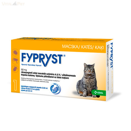 Fypryst Bolha-kullancs csepp macskának (spot-on 0,5 ml ) 1 db pipetta