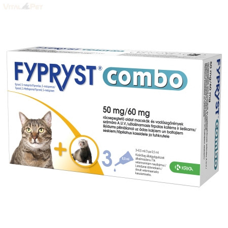 Fypryst Combo macska és vadászgörény számára 0,5ml 3db