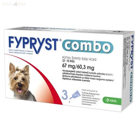 Fypryst Combo kutyáknak (0,67ml 2-10kg) 3db
