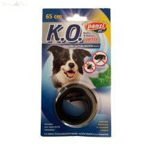 Panzi nyakörv K.O. kutya bliszteres fekete 65 cm