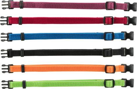 TRIXIE textil jelölő nyakörv szett 6 db-os S-M