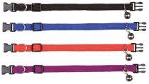 TRIXIE színes nyakörv sima (csengővel)