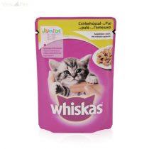Whiskas alutasakos JUNIOR 100 g csirke aszpikban