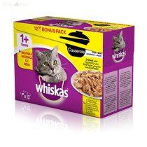 Whiskas 12 pack alutasakos Casserole multipack szárnyas válog.
