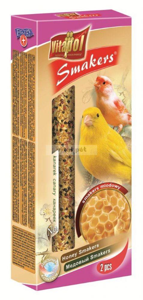 Vitapol Smakers rúd kanárinak 2db 60g gyümölcs