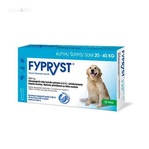 Fypryst Bolha-kullancs csepp kutyának (spot-on 2,68 ml  20-40 kg-ig) 3 db pipetta