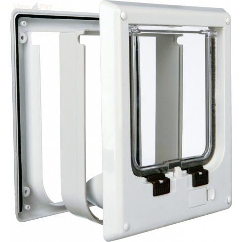 TRIXIE cica ajtó 4 állású mágneses zárral 21*24cm (15,8x14,7cm belső méret - macska ajtó )